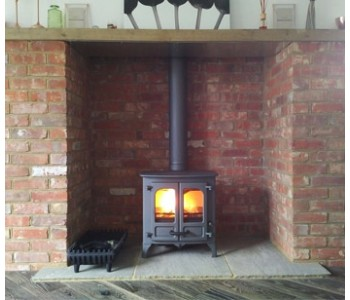 Mendip 8 Multifuel Stove - with slate hearth we installed in West Horsley, Surrey