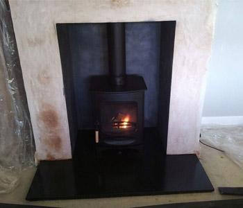 Charnwood C4 Wood Burning Stove - installed in Brockham, Surrey.