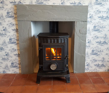 Coalbrookdale multifuel Stove - installed an original and refurbished between Cranleigh and Horsham, West Sussex.