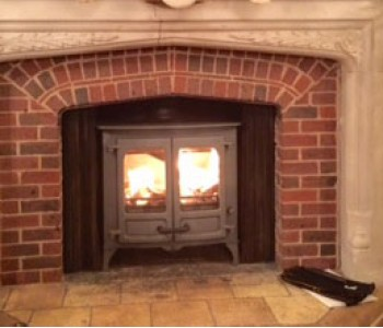 Charnwood Island 2 stove with Low Legs - fitted by our installers in West Sussex.