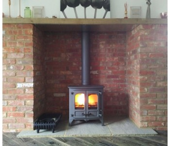 Charnwood Island 1 with Low Legs in Gun Metal - installed in Send near Woking, Surrey.