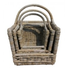 Open-Ended Rattan Log Basket (Small)