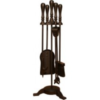 Traditional Top Companion Set - 3 Legged (All Black / Satin Nickel)